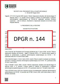 DPGR Marche n. 144/2020