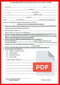 Autocertificazione fase 2 covid-19